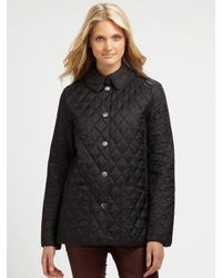 Burberry brit Pirmont Quilted Jacket in Black | Lyst : burberry pirmont quilted jacket - Adamdwight.com