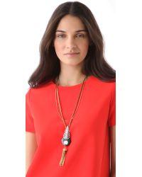 Lulu Frost - Black Antigone Tassel Necklace - Lyst