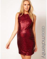ASOS Red Sequin Dress