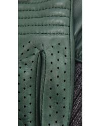 Club Monaco - Green Wanda Moto Gloves - Lyst