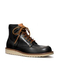 COACH - Black Dominic Boot for Men - Lyst