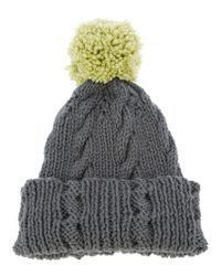 Labour of Love - Green Bobble Hat - Lyst