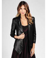Ella Moss | Black Cleo Sequin Blazer | Lyst