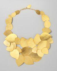 Herve Van Der Straeten | Metallic Leaf Cluster Necklace | Lyst