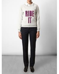 House of Holland | Gray Ride It Jumper | Lyst