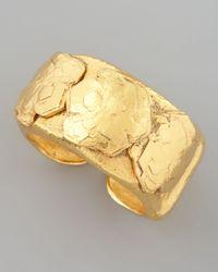 Jose & Maria Barrera - Metallic Gold Nugget Cuff - Lyst