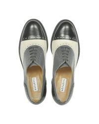Fratelli Rossetti - Nagoya Black White and Gray Wingtip Oxford - Lyst