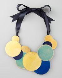 Herve Van Der Straeten | Blue Pastilles Dot Ribbon Necklace | Lyst