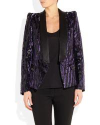 Roberto Cavalli | Purple Animalprint Brocade Tuxedo Jacket | Lyst
