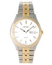 Seiko | Metallic Solar Gents Bracelet Watch Sne032p1 for Men | Lyst