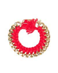 Aurelie Bidermann - Red Do Brazil Chain Bracelet - Lyst