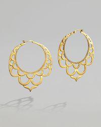 John Hardy | Metallic Gold Lace Hoop Earrings | Lyst