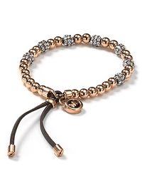 Michael Kors   Metallic Pave Beaded Bracelet   Lyst