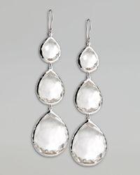 Ippolita | Metallic Triple Teardrop Earrings | Lyst