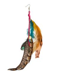 River Island - Multicolor Single Feather and Charm Earrings - Lyst