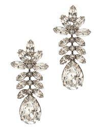 Tom Binns - Black Crystal Drop Earrings - Lyst