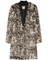 By Malene Birger | White Scarlettes Leopard print Faux Fur Coat | Lyst