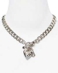 Juicy Couture - Metallic Silver Plated Starter Necklace 16 - Lyst