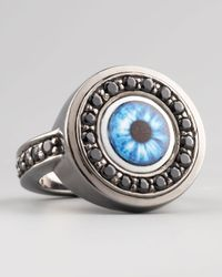 M.c.l  Matthew Campbell Laurenza | Metallic Multicolor Evil Eye Ring | Lyst
