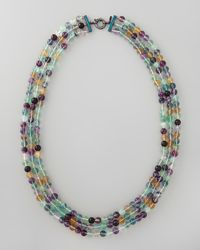 M.c.l  Matthew Campbell Laurenza - Multicolor Beaded Triplestrand Necklace 34l - Lyst