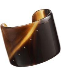 Monique Péan | Brown Dark Buffalo Horn Cuff with Diamonds | Lyst