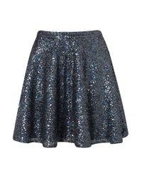 Topshop | Blue Sequin Skater Full Skirt | Lyst