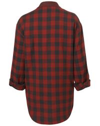 TOPSHOP - Red Mix and Match Check Shirt - Lyst