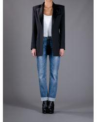 Balmain | Black Oversize Boxy Blazer | Lyst