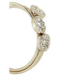 Jennifer Meyer - Metallic Set Of Three 18-Karat White Gold Diamond Stacking Rings - Lyst