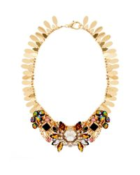 ASOS | Metallic Winged Stone Collar Necklace | Lyst