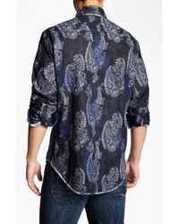 Robert Graham | Blue Tahoe Sport Shirt for Men | Lyst