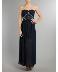 TFNC | Blue Embellished Maxi Dress | Lyst
