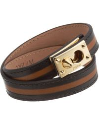 Fendi - Brown Goldmine Double Wrap Bracelet - Lyst