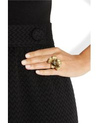 Marc By Marc Jacobs - Metallic Glass and Resin Embellished Brass Flower Ring - Lyst
