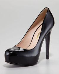 Pour La Victoire | Irina Ii Patent Leather Platform Pump Black | Lyst