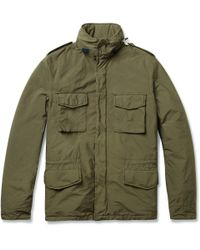 Aspesi Green Field Jacket with Detachable Quilted Lining for men