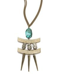 Citrine by the Stones - Metallic Toltec Pendant Necklace - Lyst