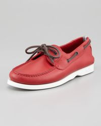 Ferragamo | World Boat Shoe Red for Men | Lyst