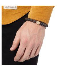 Luis Morais | Brown Ebony and Gold Bead Bracelet for Men | Lyst