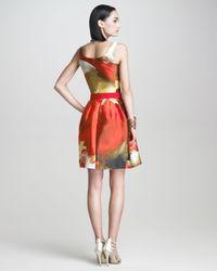 Oscar de la Renta   Red Tulip print Aline D   Lyst