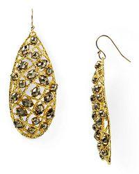 Alexis | Metallic Bittar Siyabona Midnight Gold Pyrite Woven Earrings | Lyst