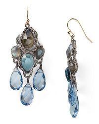 Alexis | Bittar Siyabonia Midnight Gunmetal Blue Chandelier Earrings | Lyst