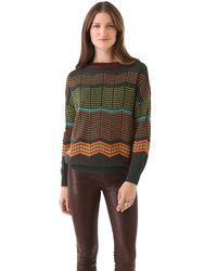 M Missoni | Green Dot Stripe Pullover | Lyst