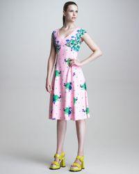 Marc Jacobs | Pink Dot Floral Print Dress | Lyst