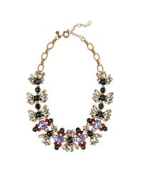 J.Crew | Purple Fall Floral Crystal Necklace | Lyst