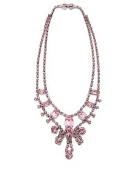 Tom Binns - Pink Madame Dumont Necklace with Crystals - Lyst