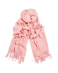 Acne Studios - Pink Canada Fringed Wool Scarf - Lyst