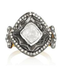 Artisan - Metallic Sterling Silver Diamond Ring - Lyst