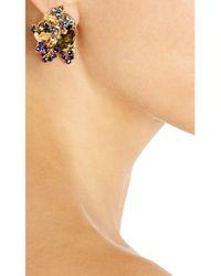 Bijoux Heart - Metallic 24karat Goldplated Swarovski Crystal Clip Earrings - Lyst
