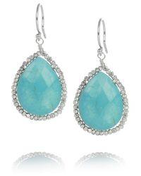 Chan Luu | Metallic Silver and Turquoise Earrings | Lyst